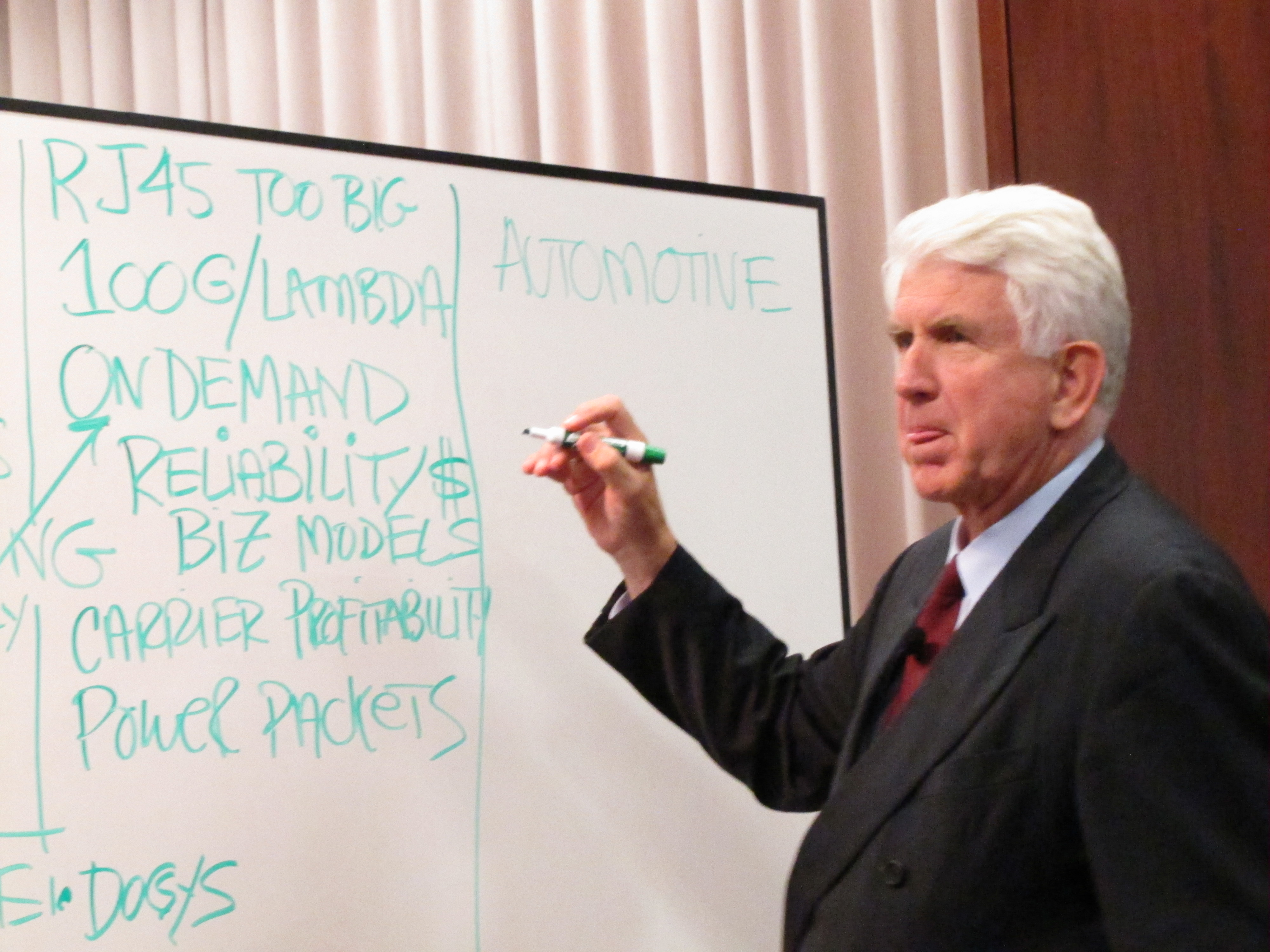 "In Celebration of the 40th Anniversary of Ethernet, Dr. Robert Metcalfe gave a keynote presentation at ""The Future of Ethernet"" TEF on October 15, 2013."